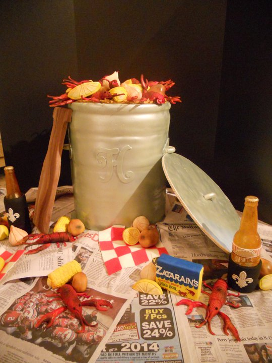 crawfish boil groom's cake