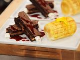 brownie ribs and corn on the cob