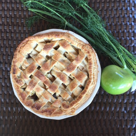 fennel apple cranberry pie
